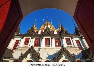 Lohaprasat temple in Wat Ratchanatdaram Worawihan, Bangkok, Thailand