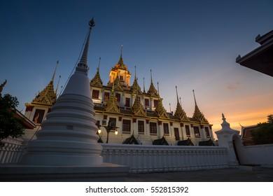Lohaprasat in Wat Ratchanatdaram Worawihan, beautiful temple in Bangkok, Thailand