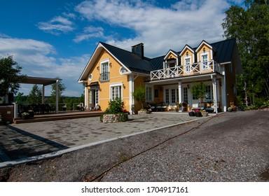 Lohja, Finland-July 2018: Beautiful Villa Stenberg. Lohja