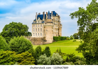 Loide Valley, France: The Castle of Brissac, a renaissance castle rebuilt in the 15th century by one of the ministers to King Charles VII, situated in Brissac-Quince, nearby Angers.