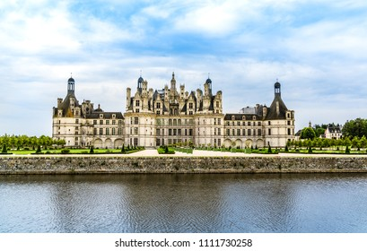 Loide Valley, France: The Castle of Chambord,  the largest castle in the Loire Valley, a Renaissance castle built by King Francis I of France