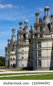 Loire Valley. France. 07.22.12. Chateau de Chambord by the River Cosson in the Loire Valley in France. The 440 room chateau dates from 1519 and is the largest in the Loire.