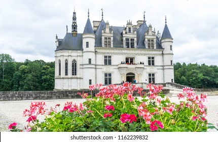 Loire Valley, France -  June 14, 2018: Château de Chenonceau is a picturesque castle in the Loire Valley, built in the 16th Century.  It's one of the most visited castle in the Loire Valley.