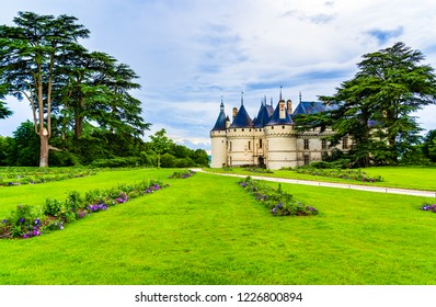 Loire Valley, France - May 29, 2018: Castle of Chaumont sur Loire on the Loire Valley  in the district of Loir et Cher, founded in the 10th century by Odo I, Count of Blois.