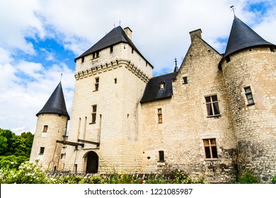 Loire Valley - May 29, 2018: Castle of Rivau on the Loire Valley  in the department of Indre et Loire.