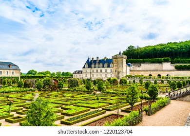 Loire Valley - May 31, 2018: Castle of Villandry on the Loire Valley  in the department of Indre et Loire.