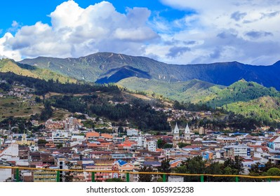 LOJA,LOJA,ECUADOR,  CIRCA JANUARY 2016  City street circa  Jan 2016 in Loja Ecuador. Loja is a center of music, business, government and culture in the Andes Mountains of Southern Ecuador