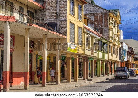 1483cc9b4 LOJALOJAECUADOR CIRCA JANUARY 2016 City Street Stock Photo (Edit Now ...