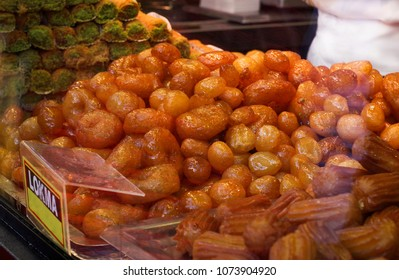 Lokma, Turkish traditional Ramadan dessert balls