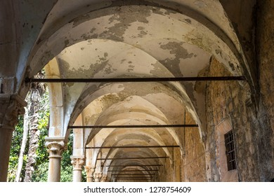 LOKRUM, CROATIA - AUGUST 22 2017: Benedectibe monastery ruins in Lokrum island, Croatia