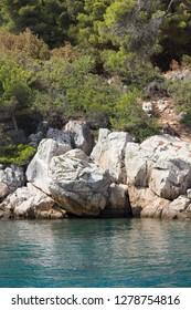 LOKRUM, CROATIA - AUGUST 22 2017: Lokrum island natural reserve