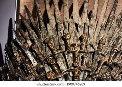 Lokrum, Dubrovnik, Croatia - June 26 2020: Throne from Game of Thrones