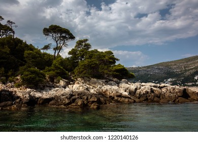 Lokrum island in the Adriatic Sea, near the city of Dubrovnik, Croatia. Day trips to the island are very popular among the visitors to Dubrovnik.
