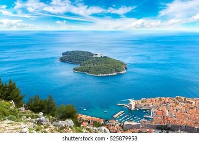 Lokrum island in Dubrovnik in a beautiful summer day, Croatia