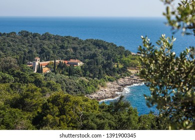 Lokrum Island Monastery, Dubrovnik, Croatia. The abbey served also as a hospital. The first of many Benedictine monasteries on the territory of the Dubrovnik Republic.