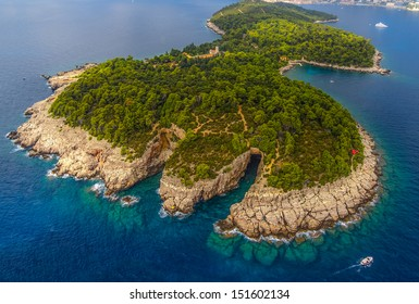 Lokrum Island and nature park near Dubrovnik, Croatia