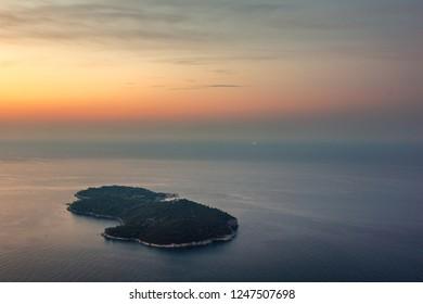 Lokrum island on the Adriatic sea, Dalmatia, Croatia