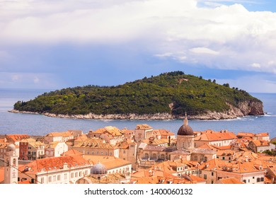 Lokrum island, tourist destination near old town Dubrovnik