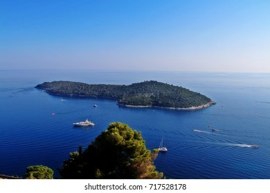 Lokrum (Lacroma), an island in Adriatic Sea 600 metres (1,969 feet) from the city of Dubrovnik with the highest point stands Fort Royal Castle (later named Maximilian's Tower), Croatia