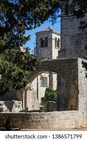 Lokrum monastery and a botanical garden close to the city of Dubrovnik, Croatia.