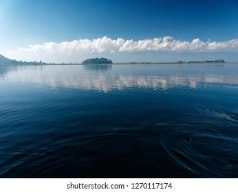 Loktak Lake landscape and Sangai national park near Imphal, Manipur, North East India