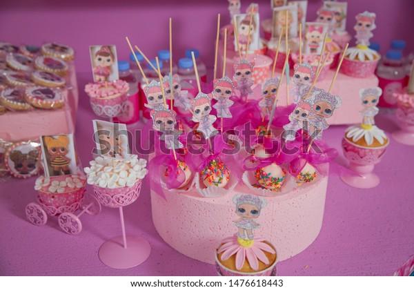 Enjoyable Lol Birthday Cake Girls Pastry Chef Stock Photo Edit Now 1476618443 Funny Birthday Cards Online Chimdamsfinfo