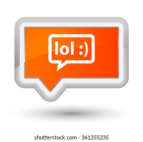 LOL bubble icon orange banner button