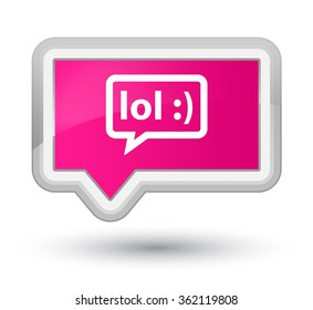 LOL bubble icon pink banner button
