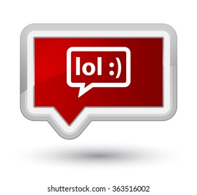 LOL bubble icon red banner button