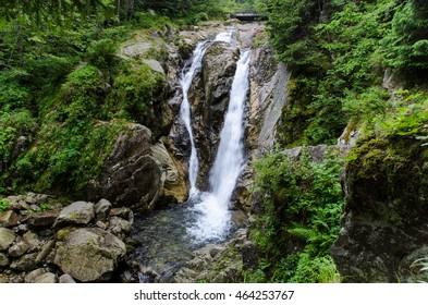Lolaia waterfall from Hateg , Hunedoara county , Transylvania
