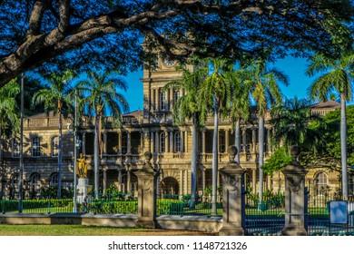 Lolani Palace in downtown Honolulu, Hawaii