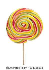 Lolipop candy isolated on white background