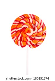 Lollipop candy isolated on white