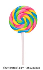 Lollipop candy isolated on white background. studio shot