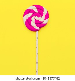 Lollipop. Candy Minimal Fashion Flatlay art