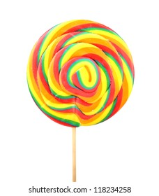 lollipop isolated over white background