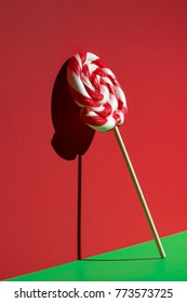 Lollipop on red and green