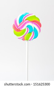 lollipop on stick, isolated on white