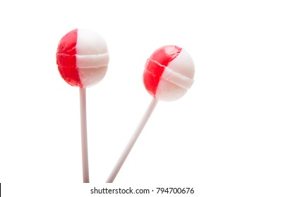 lollipop on a stick isolated on a white background