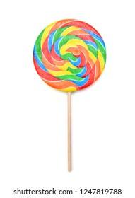 Lollipop on white background