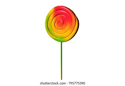 lollipops 3D rendering