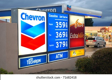 LOMA LINDA, CA - FEBRUARY 19: Gas station's price sign on February 19, 2011 in Loma Linda. Gasoline prices continue rising as Mideast tensions fan fears of oil supply disruptions.