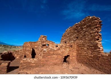 Lomaki Pueblo ruin at Wupatki National Monument in northern Arizona