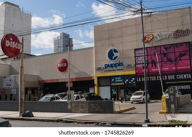 Lomas de Zamora, Buenos Aires, Argentina; 05 31 2020: Sport Club, Puppis, Dico supermarket in the same place