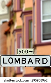 Lombard St - Street sign  in San Francisco California.