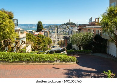 Lombard Street, known as crooked street in San Francisco, California. USA