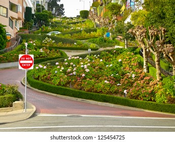 Lombard street on Russian hill, San Francisco