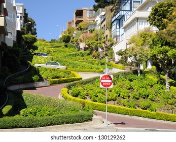 Lombard Street in San Francisco, California US