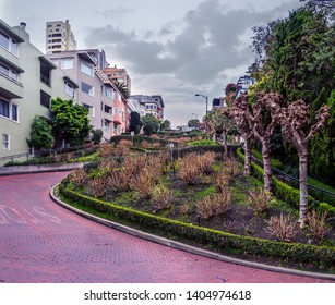 Lombard Street San Francisco.  The crookedest street in the world.