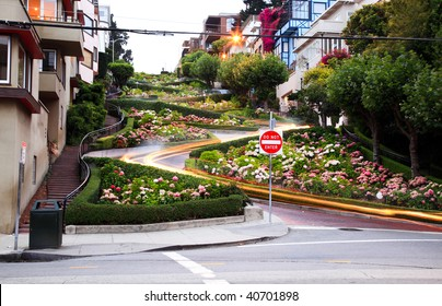 The lombard street in san francisco  USA